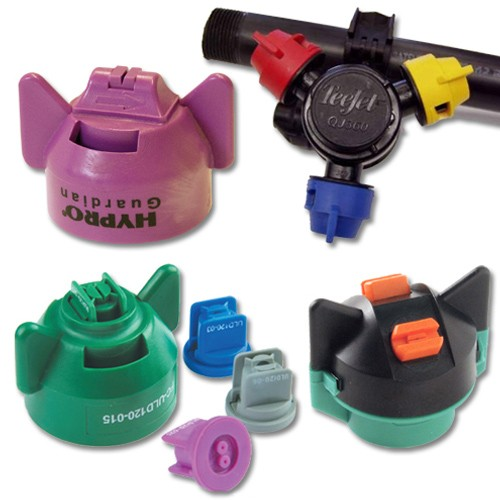 A wide choice of nozzles is available