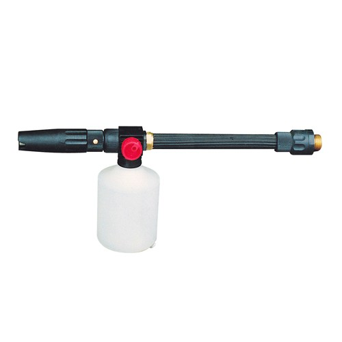The soap foamer is easy to connect to your MS pressure washer. It creates thick foam that bonds to any surface that needs cleaning for spectacular results.