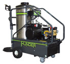 The Thunder-Pro series is recommended for very intense industrial use. An electric motor makes these units perfect for indoor applications where engine noise and exhaust are prohibited.